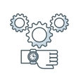 gear settings isolated icon vector image vector image