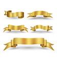 gold ribbon banner vector image vector image