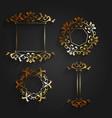 golden ornaments set vector image