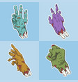hand zombie set collection vector image