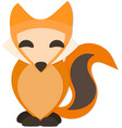 Happy Fox with Drop Shadow vector image