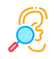 hearing test icon outline vector image vector image