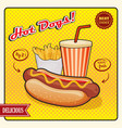 hot dogs comic style poster vector image