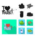isolated object of urban and street icon vector image