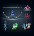 items with gemstones vector image vector image