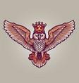 king owl mascot vector image vector image