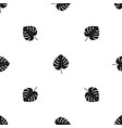 leaf of monstera pattern seamless black vector image vector image