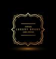 luxury symbol design vector image vector image