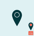 mark icon map pointer symbol vector image vector image
