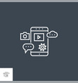 mobile seo line icon vector image