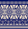 monochrome floral seamless pattern ethnic vector image vector image
