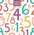 Numbers pattern vector image vector image