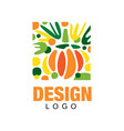 original fruit logo template sweet and healthy vector image