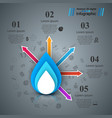 paper blue water infographics vector image