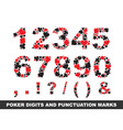 poker digits vector image vector image