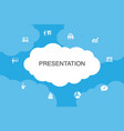 presentation infographic cloud design template vector image