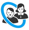 ringed family persons flat icon vector image vector image