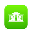 school building icon digital green vector image