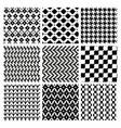seamless geometric pattern set vector image vector image