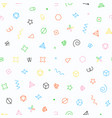 seamless geometric pattern with geometric elements vector image