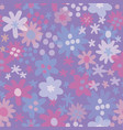seamless pattern with flowers background vector image