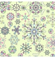 Seamless pattern with retro snowflakes vector image vector image