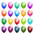 set glossy balloons vector image vector image