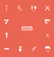 set of 13 editable barber icons includes symbols vector image vector image
