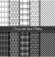 Set of black white Pattern7 vector image vector image