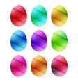set of easter eggs with different texture on a vector image