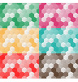 set of seamless pattern of hexagons vector image vector image