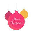 simple red and yellow christmas balls background vector image vector image