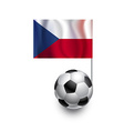 Soccer Balls or Footballs with flag of Czech Repub vector image