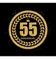 Template Logo 55 Years Anniversary vector image vector image
