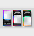 template vertical black web banners i vector image