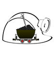 Trolley with coal vector image vector image