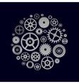 various cogwheels parts of watch movement in vector image vector image