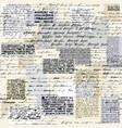 vintage inscriptions pattern vector image