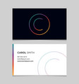business-card-letter-c vector image