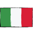 grunge italy flag or banner vector image