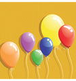 Balloon background birthday card vector image
