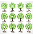 Set of eco icons on tree vector image