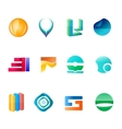 Abctract logo set vector image vector image