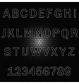 Alphabet background-brick wall vector image vector image