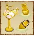 Antique gold vases and shape king of the seas vector image