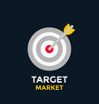 arrow in target icon vector image vector image