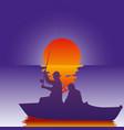 background fisherman vector image vector image