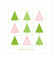 Background with fir trees vector image vector image