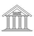 bank icon outline style vector image