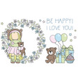be happy i love you tilda doll clipart vector image vector image